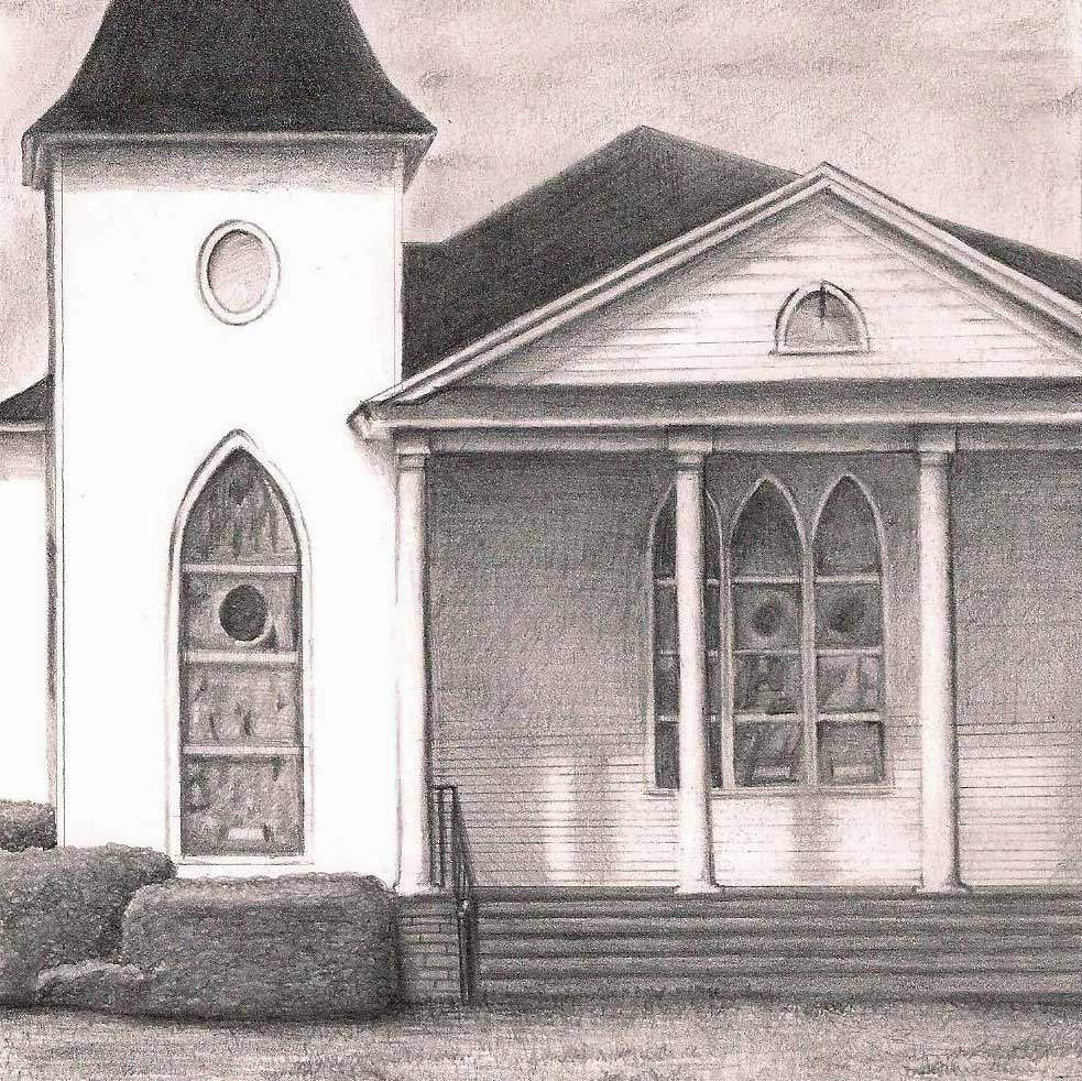 Hand Drawn Church